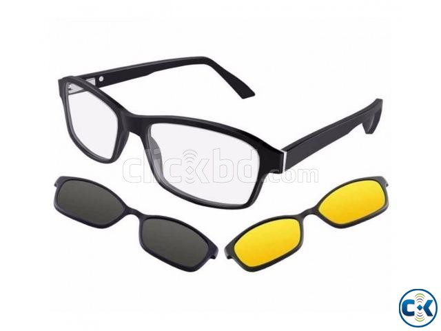 3 in 1 Magnetic Night Vision Glasses | ClickBD large image 0