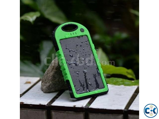 5000Mah Solar Charger Battery USB Power Bank For Mobile. | ClickBD large image 0