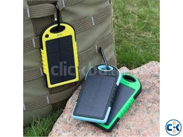 5000Mah Solar Charger Battery USB Power Bank For Mobile. | ClickBD large image 1