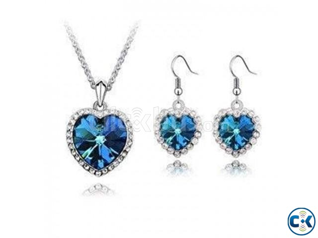 Titanic Heart of the Ocean Necklace set | ClickBD large image 0