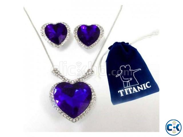 Titanic Ocean of Love Necklace Earrings Set | ClickBD large image 0