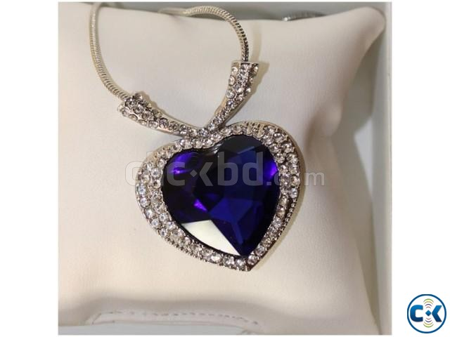 Titanic Ocean of Love Heart Shaped Necklace. | ClickBD large image 1