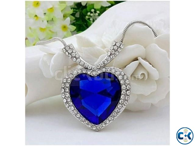 Titanic Ocean of Love Heart Shaped Necklace. | ClickBD large image 2