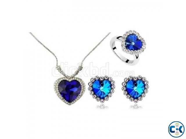 Titanic Ocean of Love Heart Shaped Necklace set. | ClickBD large image 0