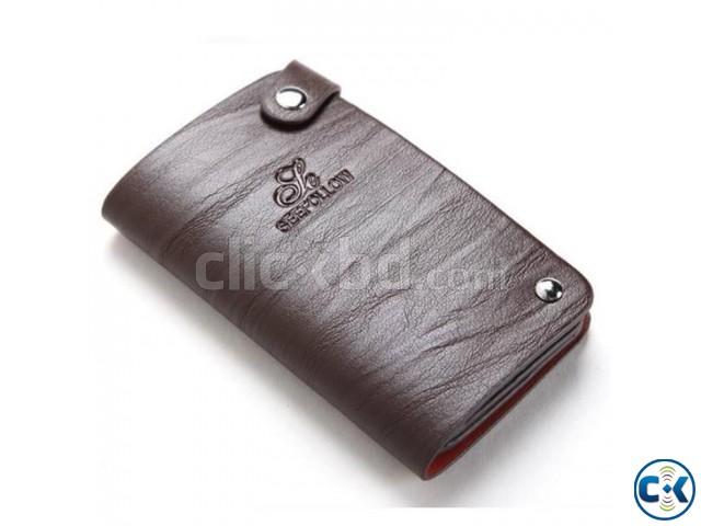 Leather Credit Card Wallet for Men | ClickBD large image 0
