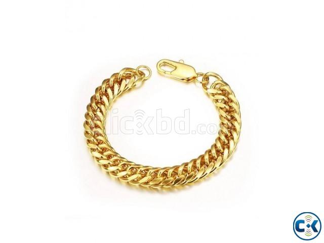 Silver Gold Platted Bracelet For Men - Golden | ClickBD large image 0