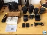 Nikon D7200 DSLR with 4lens.