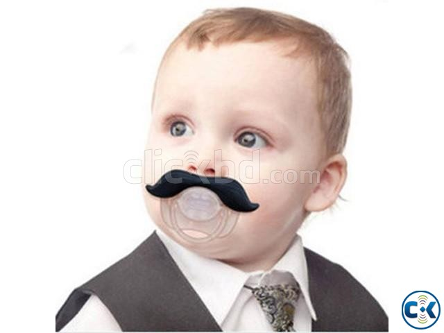 Baby Mustache Pacifier Soother | ClickBD large image 0