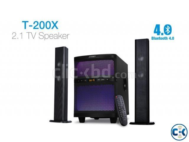 F D T-200X 2 1 Bluetooth Soundbar System Multi-Color LED | ClickBD large image 0