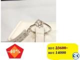 Diamond with white Gold Ladies Ring