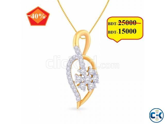 Diamond With Gold Ladies pendant | ClickBD large image 0