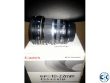 Canon EF-S 10-22mm f 3.5-5.6 USM wide angle zoom Lens
