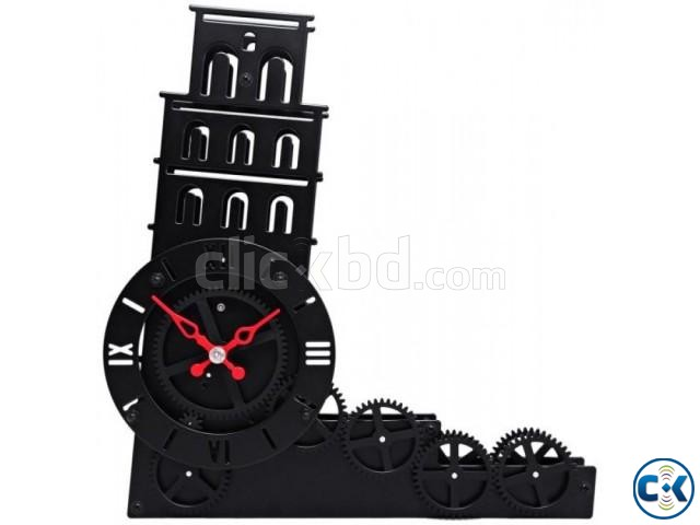 Gear Clock Leaning Tower of Pisa - HY-G117 intact | ClickBD large image 2