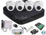 04 PCS CCTV Camera Setup