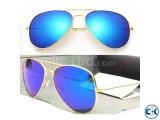 Blue Mirror Aviator Sunglasses.