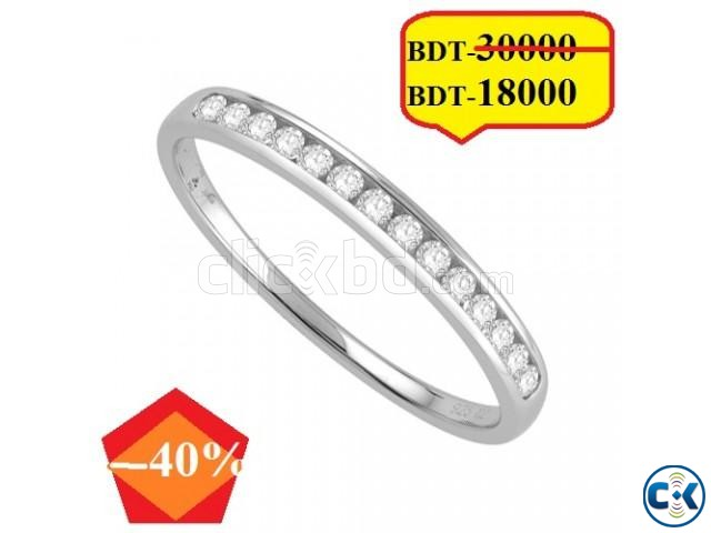 Diamond With White Gold Ring | ClickBD large image 0