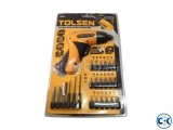 Cordless Screwdriver Set With Drill Machine - Yellow Black