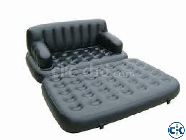5 in 1 Inflatable Double Air Bed Sofa cum Chair intact Box | ClickBD large image 2