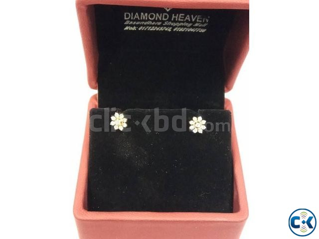 Diamond with Gold Earring | ClickBD large image 0