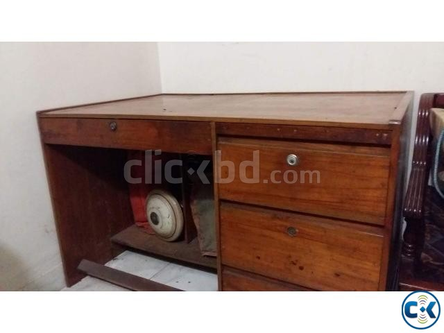 ORIGINAL CHITTAGONG TEAK SAGUN OFFICE COMPUTER TABLE | ClickBD large image 0