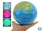 Self Rotate Day Night Color Change Desk Globe World Map