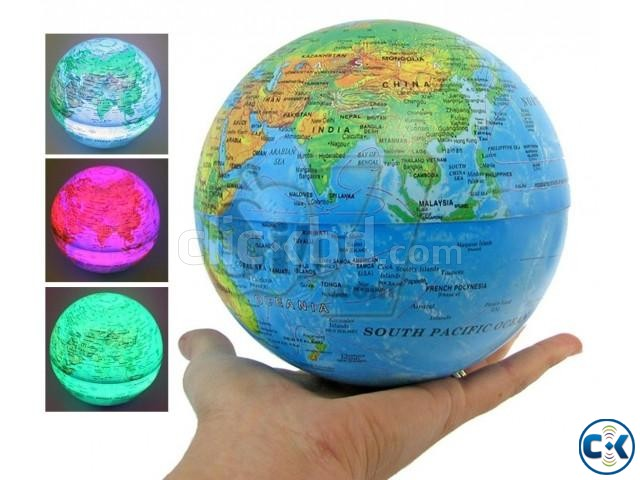 Self Rotate Day Night Color Change Desk Globe World Map | ClickBD large image 0