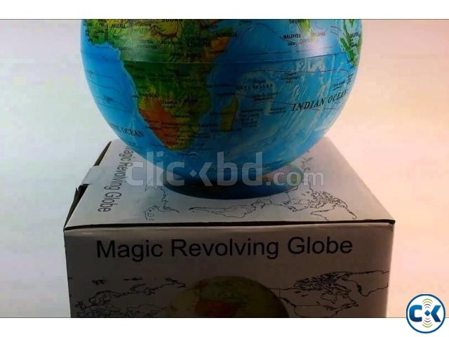 Self Rotate Day Night Color Change Desk Globe World Map | ClickBD large image 1