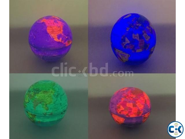 Self Rotate Day Night Color Change Desk Globe World Map | ClickBD large image 3