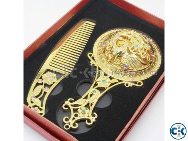 Royal Decoration Comb and Mirror | ClickBD large image 0