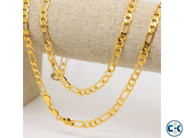 Italian Gold Plated Chain for Men -1pc | ClickBD large image 0