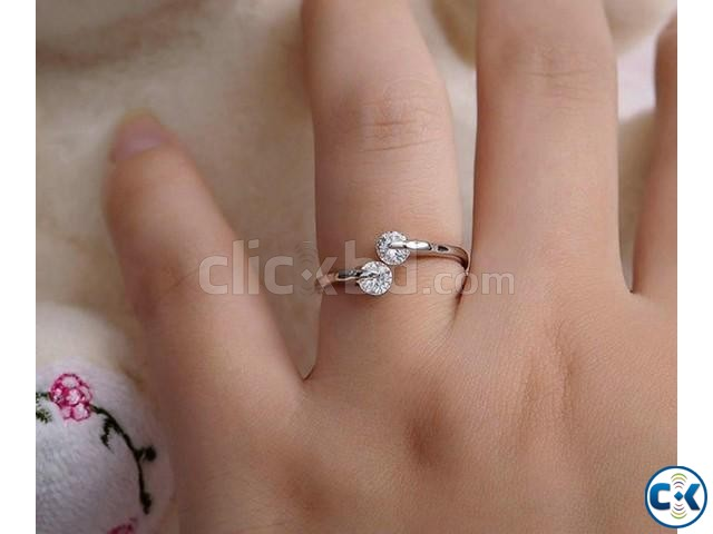 Rose Gold Plated hion Design Twin Zircon CZ Diamond Engageme | ClickBD large image 0