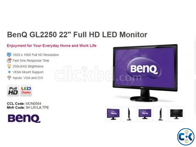 BenQ 22 Inch Monitor | ClickBD large image 1