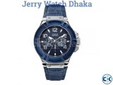 guess blue dial watch