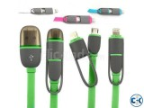 2 In 1 USB Charger Data Cable For Android And iPhone