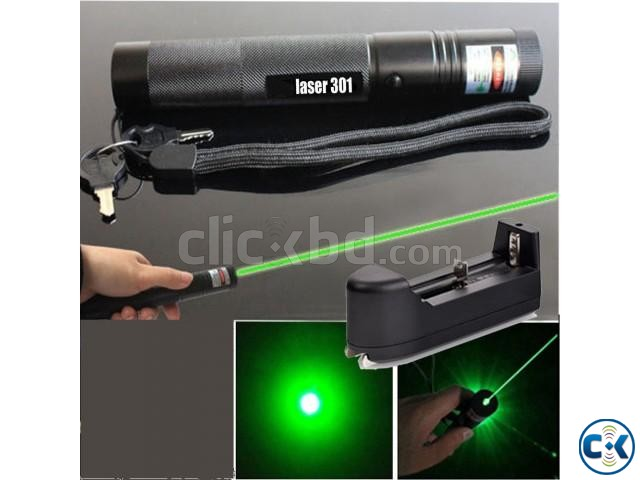 Rechargeable Green Laser Pointer-  | ClickBD large image 0