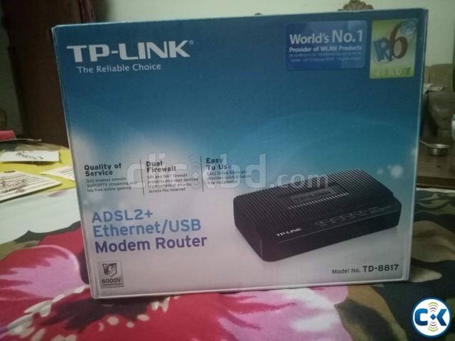 TP-LINK ADSL2 Ethernet USB Modem Router | ClickBD large image 0