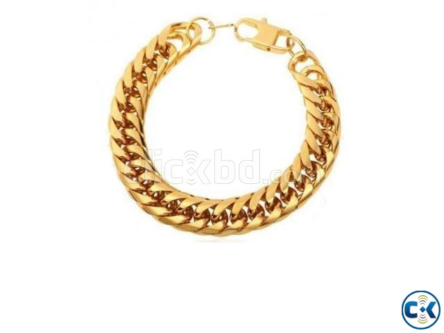 Gold Platted Bracelet For Men | ClickBD large image 0