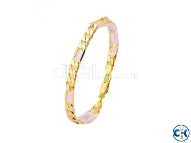 Golden Metal Bracelet For Men | ClickBD large image 0