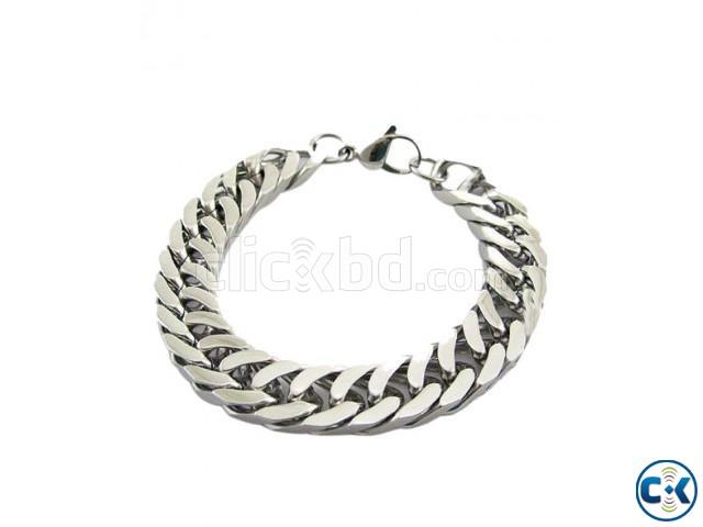 Silver Metal Bracelet For Men | ClickBD large image 0