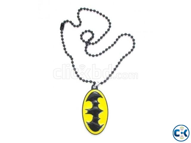 Batman Locket with Chain Black Yellow  | ClickBD large image 0