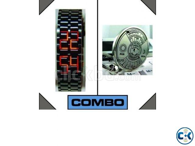 Samurai Men s Wrist Watch and 50 Year Calendar | ClickBD large image 0