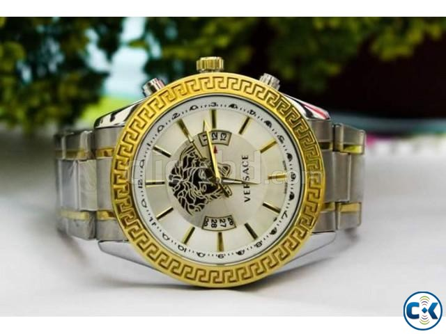 Versace Date Function Watch | ClickBD large image 1
