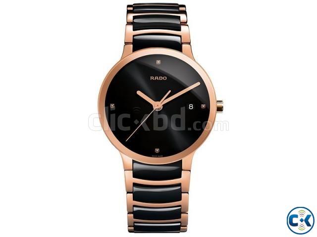 Rado Centrix Jubil Watch Rose Black | ClickBD large image 0