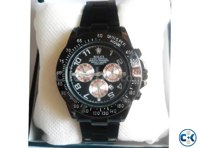 Rolex chronograph Black Dialer   ClickBD large image 0