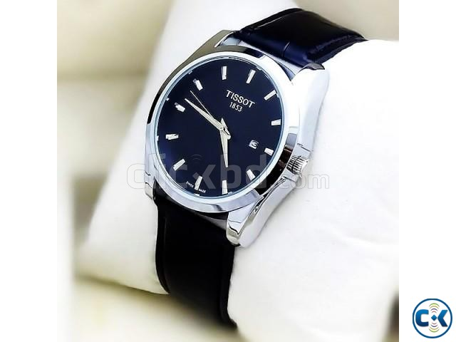 Tissot Black Leather Strap Dialer | ClickBD large image 0