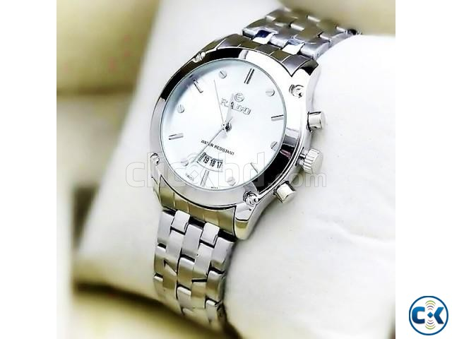 Rado Silver Chain White Dialer with Date Function | ClickBD large image 0
