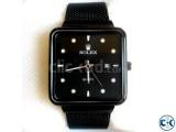 Rolex Pure Black Square Watch