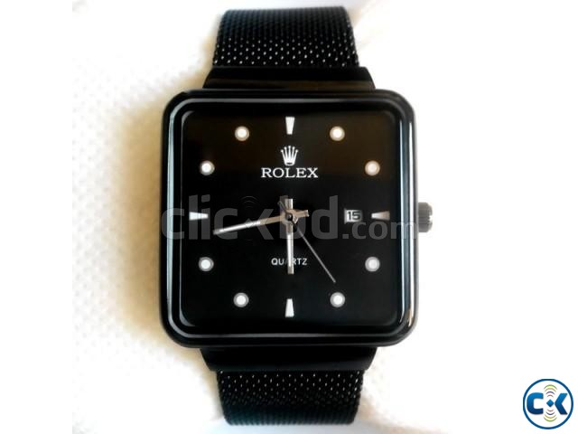 Rolex Pure Black Square Watch | ClickBD large image 0