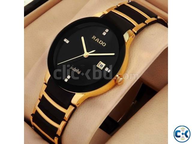 Rado Centrix Jubil Watch Golden Black   ClickBD large image 0