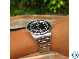 Rolex Silver chain Black Dialer